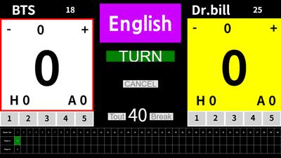 English version billiard scoreboard